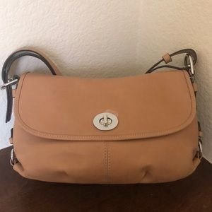 Coach Tan Smooth Leather Shoulder Bag